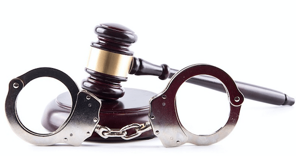 criminal justice system: gavel and handcuffs