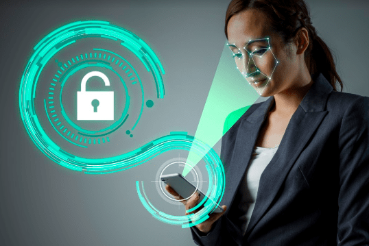 biometric face recognition used to unlock phone