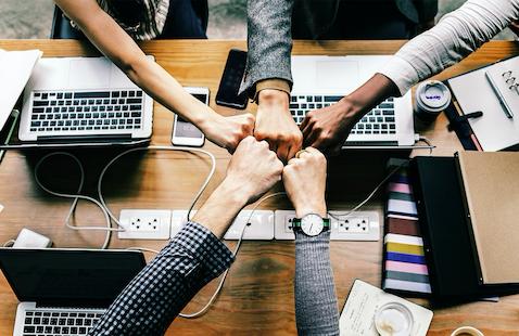 Startup business teamwork