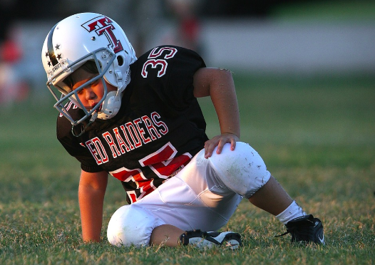 youth football player injured