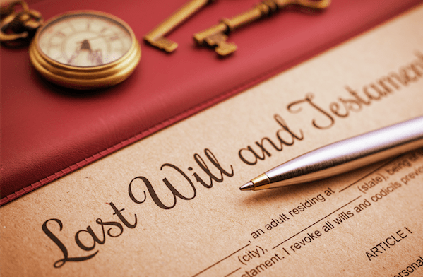 Last will and testament: writing your will