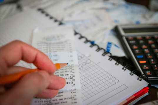 calculating taxes with a calculator