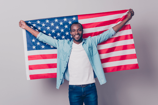 US Citizenship American Flag
