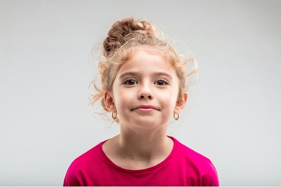 girl with ears pierced