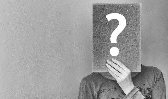 question mark over face, hidden identity