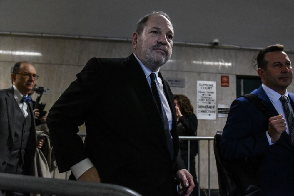 NEW YORK, NY - APRIL 26: Harvey Weinstein exits the courtroom after a hearing in State Supreme Court on April 26, 2019 in New York City. Weinstein is facing rape and sexual assault charges from two separate incidents. (Photo by Stephanie Keith/Getty Images)