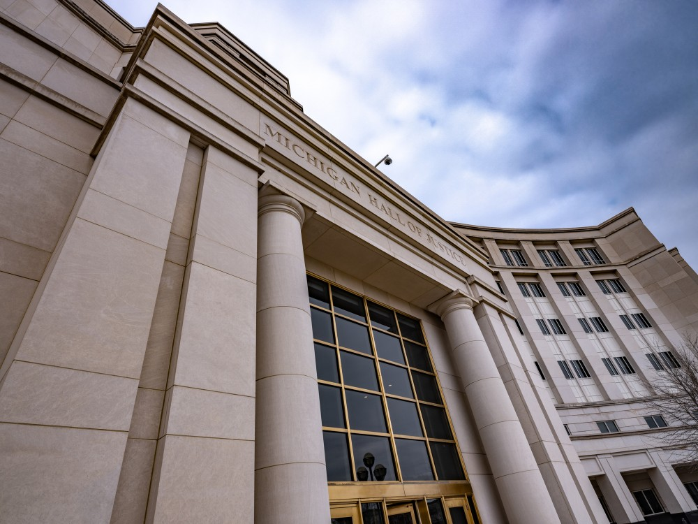 The Michigan Hall of Justice in Lansing