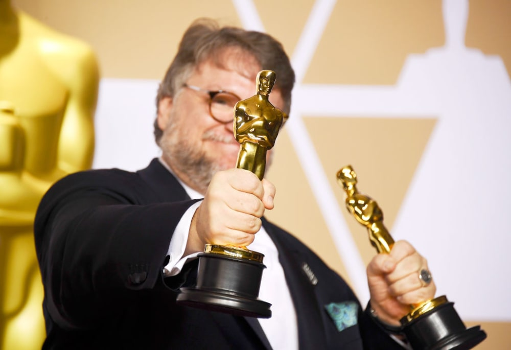 Filmmaker Guillermo del Toro, winner of the Best Director and Best Picture awards for 'The Shape of Water,' poses in the press room during the 90th Annual Academy Awards at Hollywood & Highland Center on March 4, 2018 in Hollywood, California.  (Photo by Frazer Harrison/Getty Images)