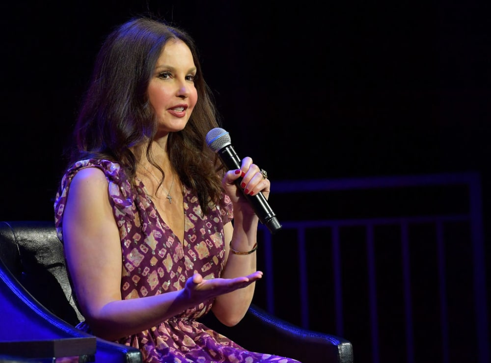 """NEW YORK, NY - APRIL 28:  Ashley Judd speaks onstage at """"Time's Up"""" during the 2018 Tribeca Film Festival at Spring Studios on April 28, 2018 in New York City.  (Photo by Roy Rochlin/Getty Images for Tribeca Film Festival)"""