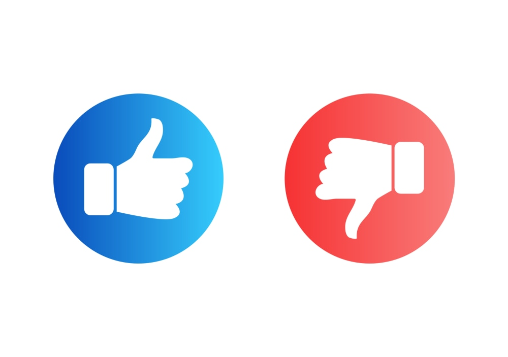 Social media Like and Dislike Vector Modern Icons Isolated on White Background. Design Elements for Social Network, SMM, CEO, APP, UI, UX, Marketing, Business, Advertisemen