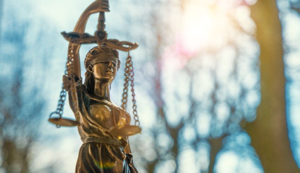 Lady Justice statue outdoors