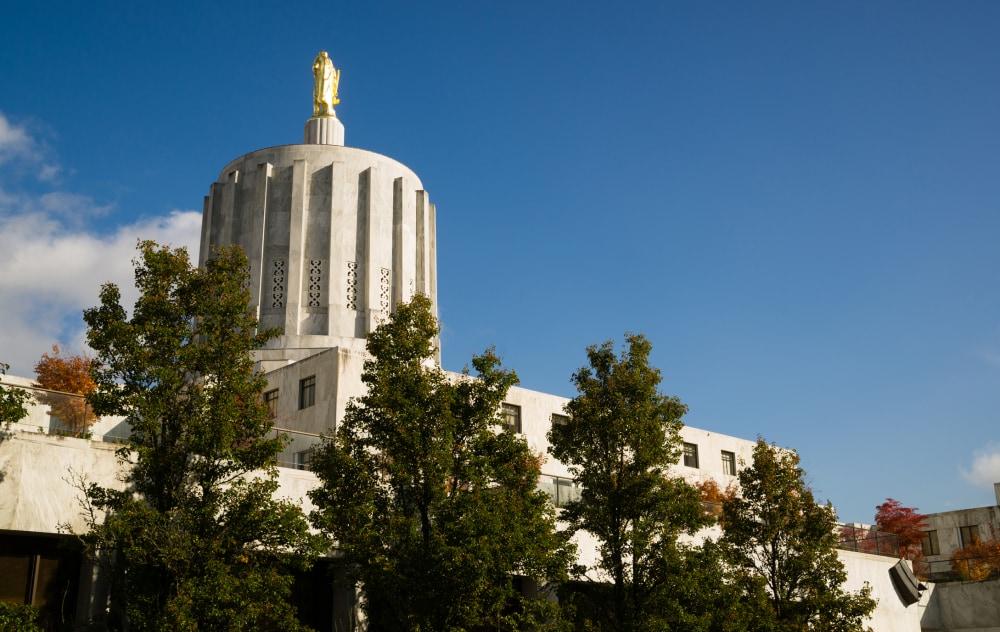 Daytime on the Capital Grounds Salem Oregon Northwest United States