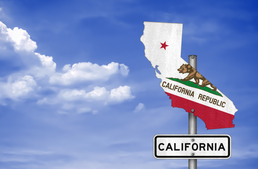 California state - road sign map