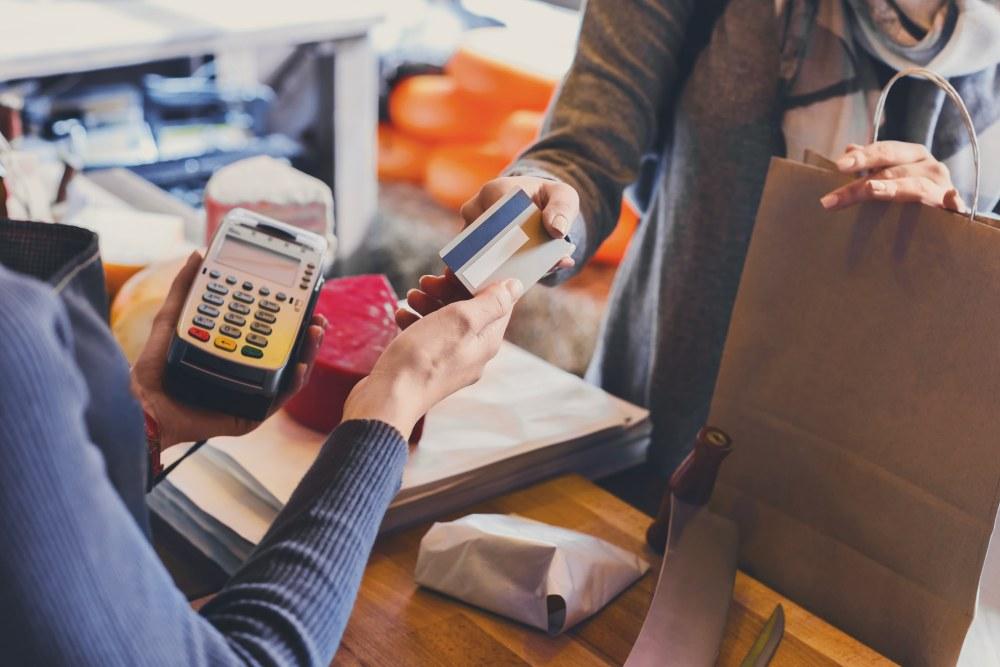 Credit card transaction.