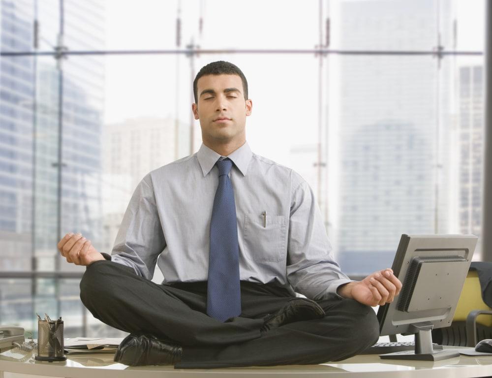 Meditating-Businessman