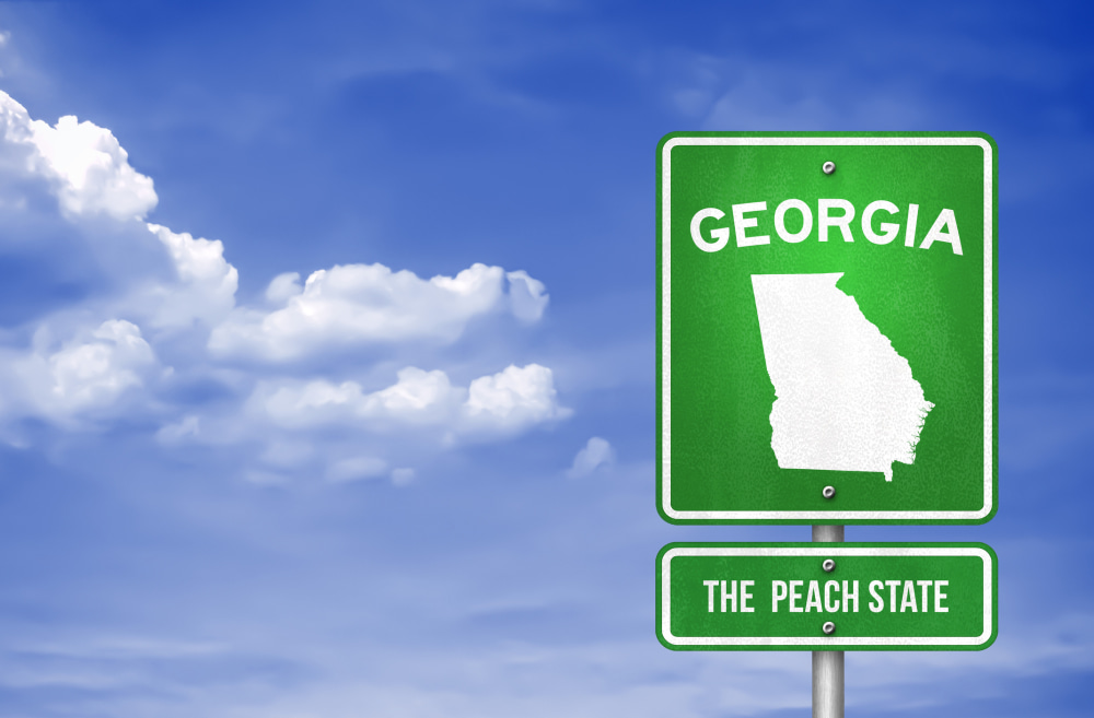 Georgia - Georgia Highway sign - Illustration