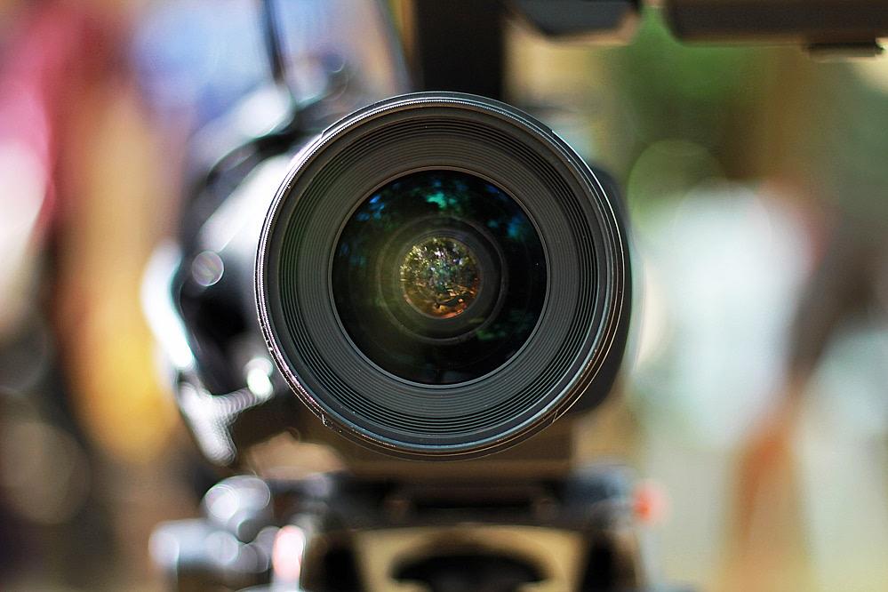 Front camera lens photo.