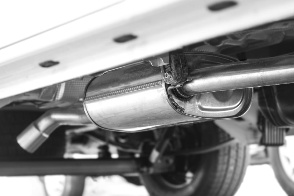 new exhaust system with catalytic converter