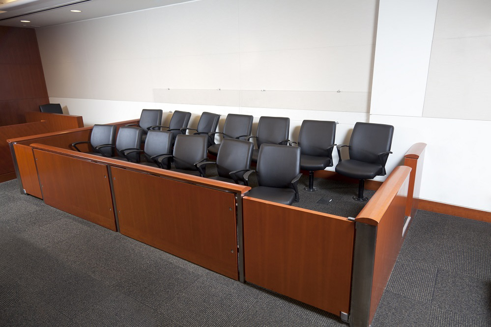 A United States Superior Courtroom Jury Box