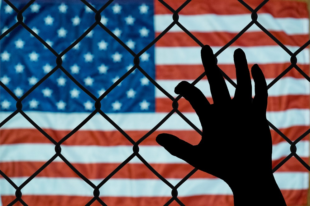 This is an emotional picture about the immigration policies of the united states